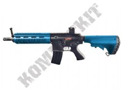 FB6621 HK416 Replica Assault Rifle AEG Electric Airsoft BB Machine Gun 2 Tone Blue Black Metal